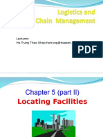 Logistics Chap 05 Locating Facility Part 2