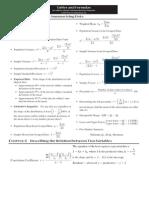 FINAL EXAM Formula Sheet and Tables