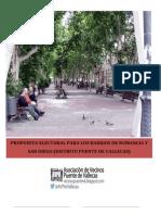 Propuesta del Plan Integral para la regeneración urbana de barrios en Puente de Vallecas