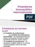 Finanțarea tranzacțiilor internaționale
