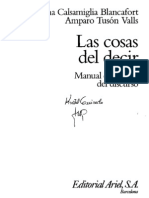 Calsamiglia y Tusón-Las cosas del decir-Cap 1 al 4