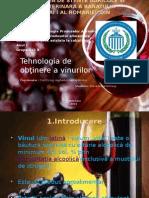 Tehnologia de Obtinere a Vinurilor in Ro