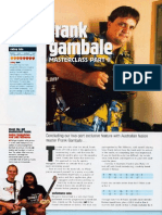 Frank Gambale Lesson From Guitar Techniques Magazine