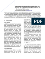 Zwischenbericht und Beteiligungsaufruf zur Studie über die Wertschöpfungskette und QA sicherheitskritischer Software in der Automobil-Branche