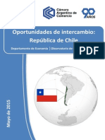 Informe Oportunidades de Intercambio Con Chile. CAC, Jun2015