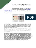 Cách chọn mua lò Vi Sóng Điện Tử Sharp