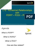 RSRP RSRQ RSSI