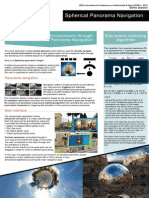 Exploring 3D Virtual Environments through Optimised Spherical Panorama Navigation - Poster