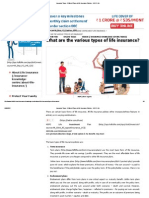 Insurance Types _ Different Types of Life Insurance Policies - HDFC Life