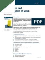 Ergonomics and Human Factors@Work