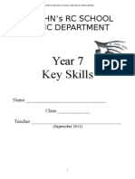 Year 7 Baseline Key Skills Booklet 2011