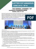 Newsletter 16 - Shareholders Meeting 2015