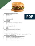 Cara Membuat Burger Ayam