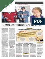 El Perú Se Mantendrá Neutral