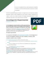 La Investigación Experimental Consiste en La Manipulación de Una Variable Experimental No Comprobada