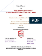A Comparative Study of Customer Services in ICICI and SBI