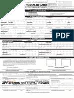 Postal ID Application Form