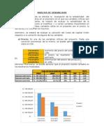 Análisis de Sensibilidad - Informe Final 2015-1