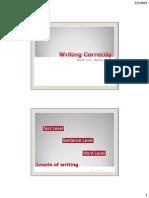 Writing Correctly