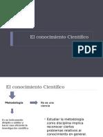 Clase 3_El Conocimiento Cientifico 2.1