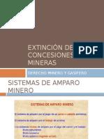 Extinción de Concesiones Mineras