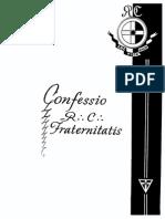 Confessio RC Fraternitatis (en castellano)