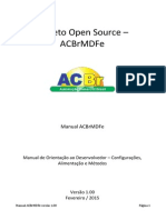 Manual ACBrMDFe Versão 1.00