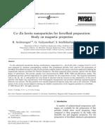 Co–Zn Ferrite Nanoparticles for Ferrofluid Preparation
