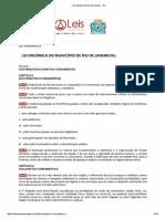 Lei Orgânica de Rio de Janeiro - RJ