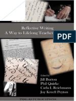 Reflective Writing a Way to Lifelong Teacher Learning