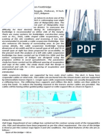 A Study On Cable Suspension Footbridge
