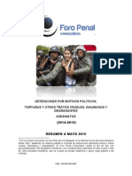 Informe Alternativo Foro Penal