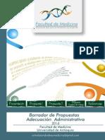 Borrador Propuestas Adecuacion Administrativa Medicina UdeA