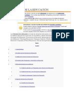 Ciencias de La Educación y Lineas de Investigacion