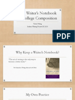 The Writer's Notebook in College Composition - PowerPoint