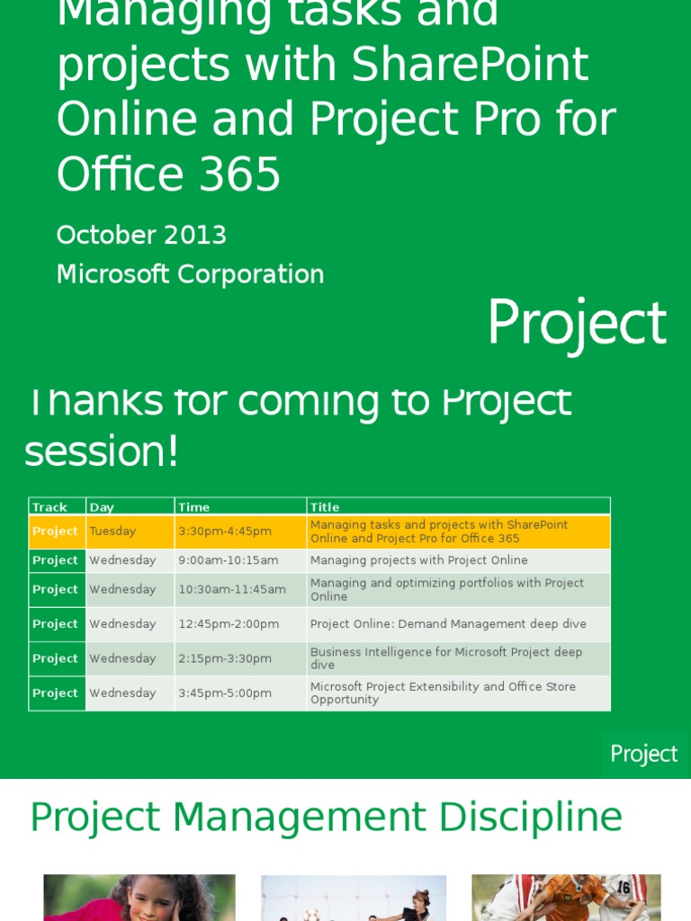 Managing Tasks And Projects With Sharepoint Online And Project Pro