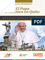 Folleto Francisco en Quito