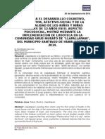 """ESTIMULAR EL DESARROLLLO COGNITIVO, PSICOMOTOR, AFECTIVO-SOCIAL Y DE LA PERSONALIDAD DE LOS NIÑOS Y NIÑAS MENORES DE 12 AÑOS EN EL ASPECTO PSICOSOCIAL, MOTRIZ MEDIANTE LA IMPLEMENTACION DE LUDOTECA EN LA COMUNIDAD URUS MURATO DE """"LLAPALLAPANI"""", DEL MUNICIPIO SANTIAGO DE HUARI GESTION 2014."""