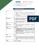 Agenda Pdepe - Suramérica - Taller Presencial 2015