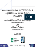 Durability Comparison and Optimization of Forged Steel and Ductile Cast Iron Crankshafts