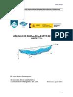 CALCULO DE CAUDALES A TRAVÉS DE AFOROS DIRECTOS