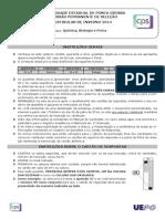 Química - Biologia - Física - UEPG (2014)