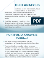 Portfolio Analysis & Management