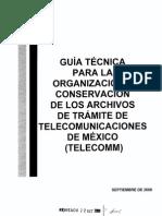 Guias Tecnicas Tec p Organi Conser Archi Tram Telecomm