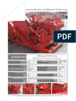 Data Sheet Halliburton HT-400 Pump Only