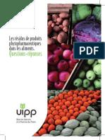 Résidus Pesticides dans l'Alimentation