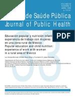 Educación popular y nutrición infantil