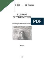 Wittgenstein - Investigaciones Filosoficas - Parag. 1-203