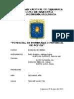 Tema II. Potencial de Membrana o Potencial de Acción