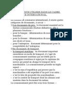 Document Utilise Dans Le Du Commerce International